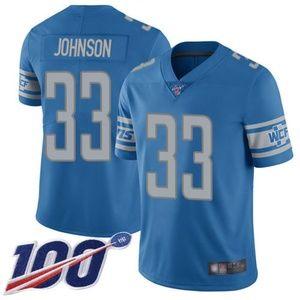 Detroit Lions Kerryon Johnson 100th Season Jersey